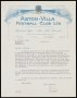 Image of : Letter from Aston Villa F.C. to Everton F.C.