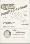 Image of : Programme - Udvalgt Hold v Everton