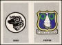Image of : Trading Card - Everton & Derby Team Badge