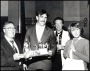Image of : Presentation to Neville Southall by the Chairman of Everton F.C. Supporters' Club, Sid McGuinness, of the Player of the Year Award 1989-90
