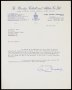 Image of : Letter from Burnley F.C. to Everton F.C.