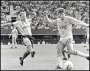 Image of : Photograph - Norman Whiteside in action against Coventry