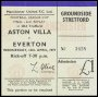 Image of : League Cup Ticket - Everton v Aston Villa