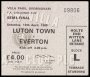 Image of : F.A. Cup Ticket - Luton Town v Everton