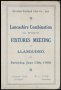Image of : Itinerary - Everton F.C., Lancashire Combination (1st Division) Fixtures Meeting
