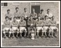 Image of : Photograph - Everton F.C. team, Brian Harris, Brian Labone, Gordon West, Jimmy Gabriel, Tommy Wright, Tommy Egleston, Alex Scott, Mike Trebilcock, Alex Young, Harry Catterick (Manager), Colin Harvey, Derek Temple, Ray Wilson
