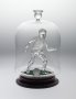 Image of : Glass Figurine - footballer and ball