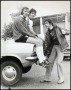 Image of : Photograph - Richard O'Sullivan with Micky Bernard and Mike Lyons at Bellefield