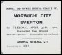 Image of : Ticket - Norwich City v Everton