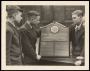 Image of : Photograph - The Captain and two players from the 1938-1939 football team of the Folds Road Boys' School, Bolton with the Everton F.C. Presentation Trophy