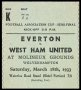 Image of : F.A. Cup Ticket - Everton v West Ham United