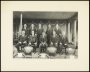 Image of : Photograph - Everton F.C. Directors and officials seated at Goodison Park. Includes W. R. Clayton, J. Davies, B. Kelly