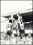 Image of : Photograph - Andy Gray of Everton and Mark Wright, Reuben Agboola and Mick Mills of Southampton in action