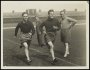 Image of : Photograph - Ted Critchley and George Martin in training with Harry Cooke and George Leyfield, the trainers, looking on