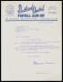 Image of : Letter from Southend United F.C. to Everton F.C.