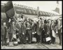 Image of : Photograph - Everton F.C. team boarding a plane at Speke before their tour