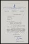 Image of : Letter from Tottenham Hotspur F.A.C. to Everton F.C.