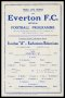 Image of : Programme - Everton 'A' v Earlestown Bohemians