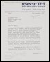 Image of : Letter from Coventry City F.C. to Everton F.C.