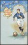 Image of : Postcard - Coloured illustration of Everton football player