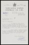 Image of : Letter from Newcastle United F.C. to Everton F.C.