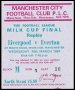Image of : League Cup Ticket - Liverpool v Everton
