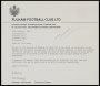 Image of : Letter from Fulham F.C. to Everton F.C.