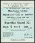 Image of : F.A. Cup Ticket - Manchester United v Everton