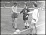 Image of : Photograph - Brian Labone shaking hands with the referee