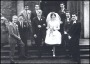 Image of : Photograph - Wedding photo of Jimmy Gabriel and Pat Gaskell, guests including Alex Young, Bobby Collins, Alex Parker, Roy Vernon, Billy Bingham and Dennis Stevens