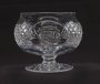 Image of : Glass Bowl - with Irish harp engraved on the side