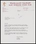 Image of : Letter from Motherwell F.A.C. to Everton F.C.