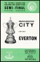 Image of : Programme - Manchester City v Everton