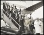 Image of : Photograph - Everton players and officials leave Manchester's Ringway Airport for a tour of Holland