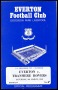 Image of : Programme - Everton v Tranmere Rovers