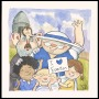 Image of : Watercolour - Neville Southall, Toffee Lady and children