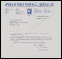 Image of : Letter from Ipswich Town F.C. to Everton F.C.