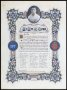 Image of : Scroll congratulating Dixie Dean on his 21st birthday