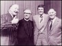 Image of : Photograph - Josef Locke, Canon Robert Smith, John Toshak and Joe Mercer at Tranmere Rovers F.C., 8th Celebrity Dinner