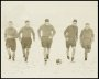 Image of : Photograph - Everton players training in the snow. Tommy Lawton in the centre.