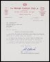 Image of : Letter from The Walsall F.C. to Everton F.C.